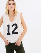 Maison Scotch Festival Tank in Jersey Quality Mixed w Woven