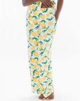 Soma Intimates Pajama Pants Lemon Citrus Ivory