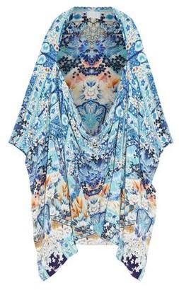 Camilla Tokyo Tribe Printed Silk Crepe De Chine Coverup