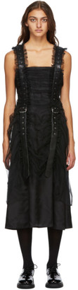 Noir Kei Ninomiya Black Tulle Vertical Belt Dress
