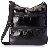 Le Sport Sac Kylie Cross Body, Black Crinkle Patent, One Size