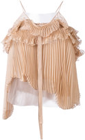 Rochas pleated top - women - Silk/Polyamide - 40