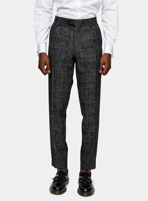 TopmanTopman HERITAGE Black Check Skinny Fit Suit Trousers