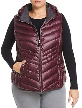 Marc New York Plus Marc New York Performance Plus Ruby Hooded Down Puffer Vest