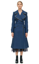 Rebecca Taylor Leather Trim Trench