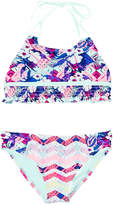 YMI Jeanswear Girls' Tropical Madness 2Pc Swimsuit