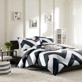 Bed Bath & Beyond Libra Reversible Chevron Comforter Set in Black/White