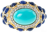 Kenneth Jay Lane BIJOUX BAR KJL by Gold-Tone Aqua & Blue Stone Ring