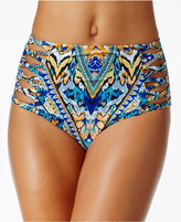 Bar III Monarchy Tribal-Print High-Waist Bikini Bottoms, Only at Macy's