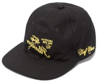 Raf Simons Embroidered Cotton Cap - Mens - Black