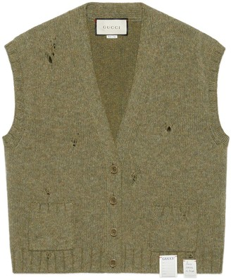 Gucci Felted wool cardigan vest