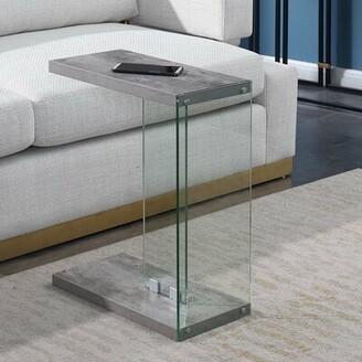 Wade Logan Calorafield Floor Shelf End Table with Storage Color: Faux Birch