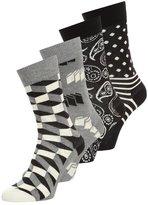 Happy Socks 4 Pack Socks Black