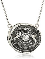 "Pyrrha talisman"" Sterling Silver While I Breathe I Hope Necklace, 18"""