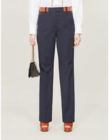 Sportmax Dramma straight-leg mid-rise stretch-cotton trousers