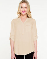 Le Château Challis Roll-up Sleeve Blouse