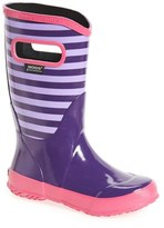 Bogs Girl's Stripe Waterproof Rain Boot