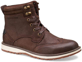 Members Only Men's Casual boots BROWN - Brown Wingtip-Toe Legacy Leather Boot - Men