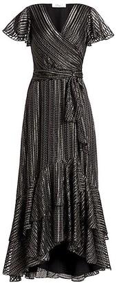 Diane von Furstenberg Donnie Ruffled Midi Wrap Dress