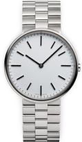 Uniform Wares M37 Polished Steel Brushed Lined Bracelet Wristwatch Silver