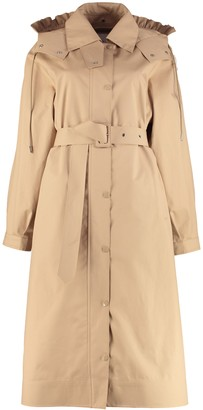 MONCLER GENIUS Silene Hooded Trench Coat