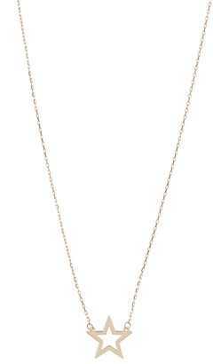 KARAT RUSH 14K Yellow Gold Star Pendant Necklace