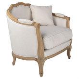 Linen European Furniture - Bleached Linen Chair
