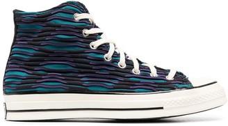 Converse textured high-top AllStar sneakers