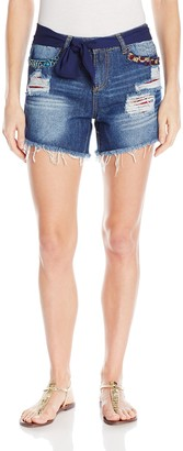 Desigual Women's Exotic Blue Denim Short Trouser