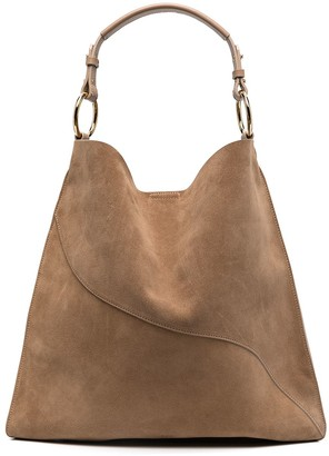 ATP ATELIER Suede Curved-Seam Shoulder Bag