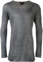 Avant Toi round neck longsleeved T-shirt - men - Linen/Flax/Polyamide - M