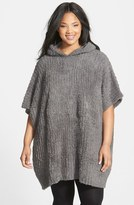 Barefoot Dreams CozyChic ® Ribbed Hooded Poncho (Plus Size)