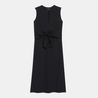 Theory Tie Front Dress in Silk
