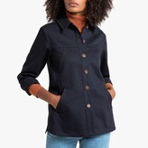 La Redoute Collections Cotton Utility Jacket with Faux Tortoiseshell Buttons and Pockets