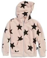Nununu Girl's Star Zip Hoodie