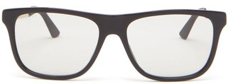 Gucci Logo-printed Square Acetate Sunglasses - Grey