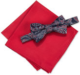 Countess Mara Men's Martin Paisley Pre-Tied Bow Tie & Solid Pocket Square Set