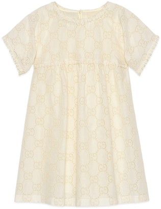 Gucci Children's GG Broderie Anglaise dress