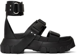 Rick Owens Black Hiking Spartan Sandals