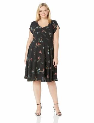 City Chic Women's Apparel Women's Plus Size Dress Botanical XXL