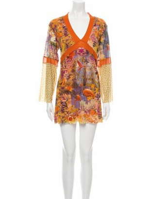 Jean Paul Gaultier Soleil Printed Mini Dress Orange