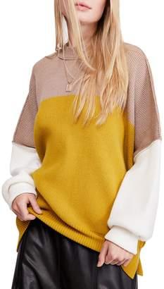 Free People Easy Street Colourblock Sweater