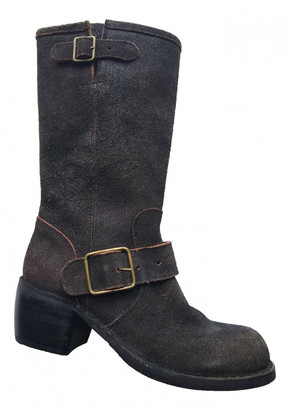 Fiorentini+Baker Brown Suede Boots