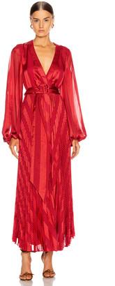 Alexis Salomo Dress in Red Geo Stripes | FWRD