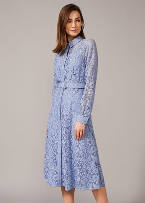 Phase Eight Autumn Lace Belted Dress