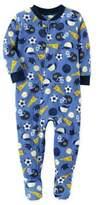 Carter's Fleece Soccer Footie Pajamas in Blue