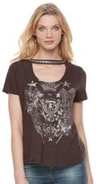 Rock & Republic Women's Choker Graphic Tee