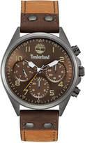 Timberland Men's Wolcott Brown Leather Strap Watch 44x48mm TBL14859JSU12