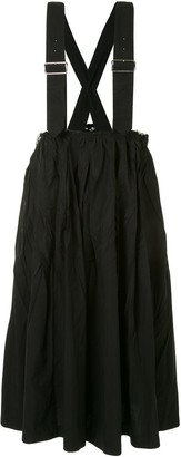 Black Comme Des Garçons Buckled Shoulder Dungaree Dress