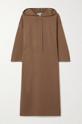 Max Mara Lerici Hooded Wool Dress - Light brown